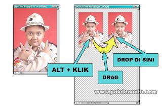 dengan langkah no 3 yaitu dengan cropping foto. Ukuran pas foto 3×4